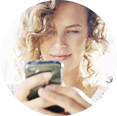 a female using her phone