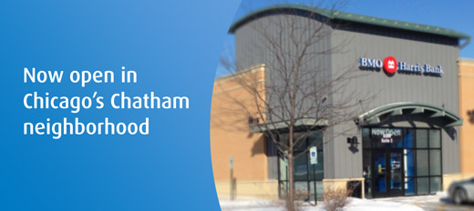 New BMO Harris branch location in Chatham Illinois