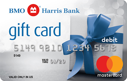 BMO Harris Bank MasterCard Gift Card